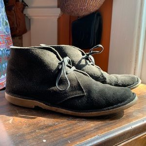 Topshop Black Suede Hush Puppies Boots